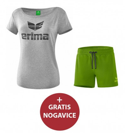 Komplet ženske kratke hlače in majica ESSENTIAL ERIMA