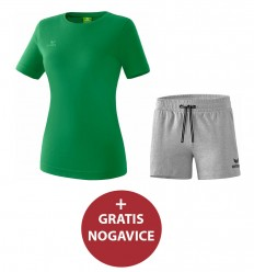 Komplet ženske kratke hlače in majica TEAMSPORTS ERIMA