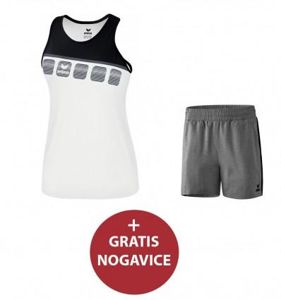 Komplet (poliester) ženske kratke hlače in majica 5-C ERIMA