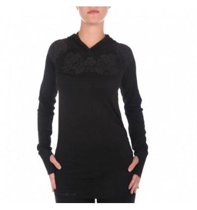 Ženska majica z dolgimi rokavi PureLimeFLowers LS