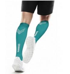 Kompresijske nogavice REHBAND - QD zelenomodra